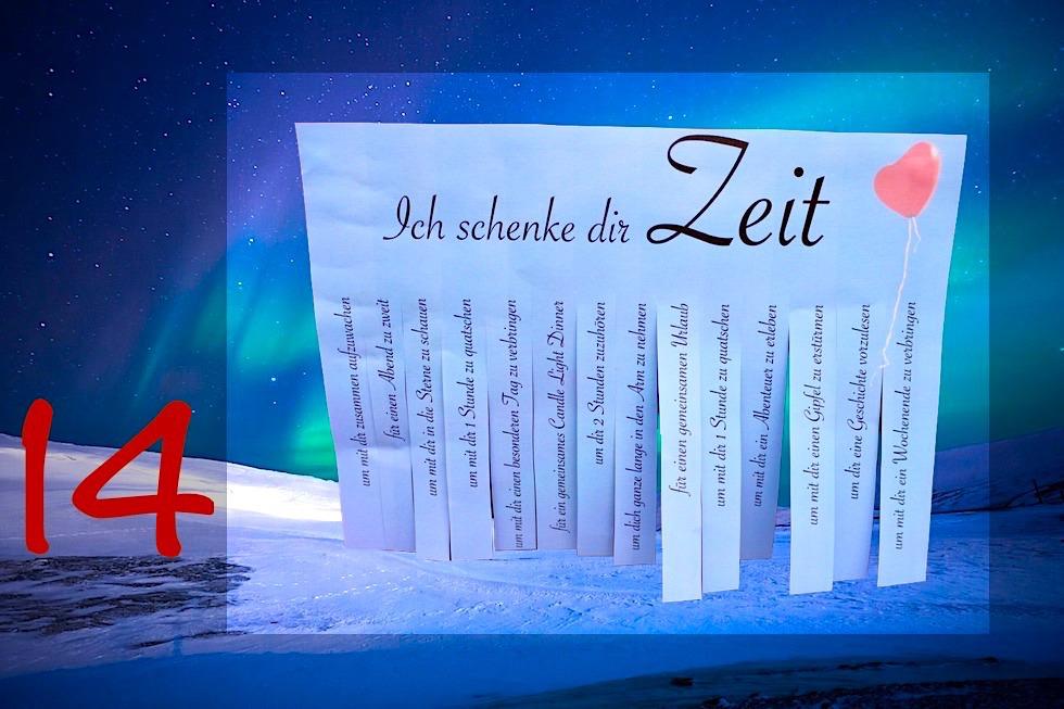 """Adventskalender Gewinnspiel 2017 - Passenger On Earth #14: """"Zeit verschenken""""- Abreißer"""