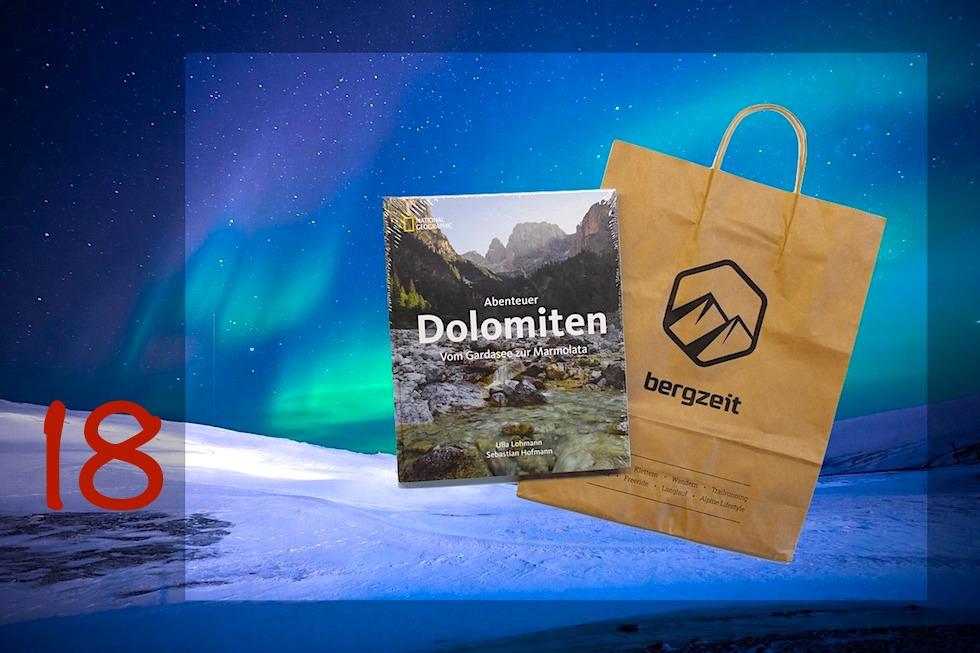 Adventskalender Gewinnspiel 2017 - Passenger On Earth #18: Dolomiten-Bildband von Bergzeit