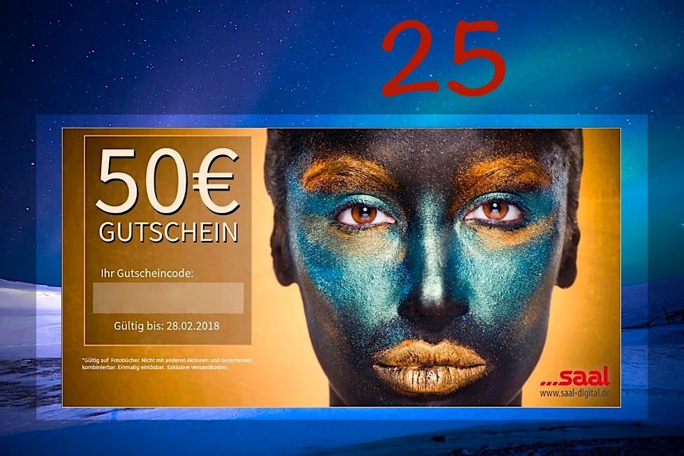 Adventskalender Gewinnspiel 2017 - Passenger On Earth #25: Fotobuch Gutschein Saal Digital