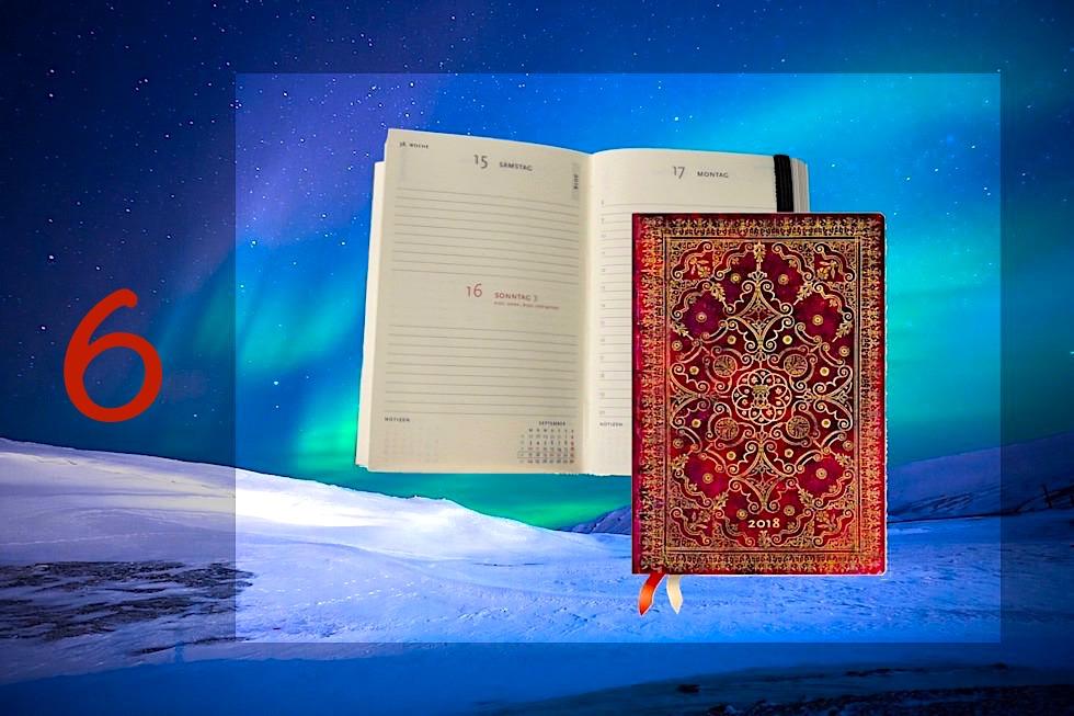 Adventskalender Gewinnspiel 2017 - Passenger On Earth #6: Paperblanks Mini Jahreskalender