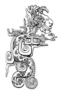 Chichen Itza - Kukulkan Maya Gott - Yucatan -Mexiko
