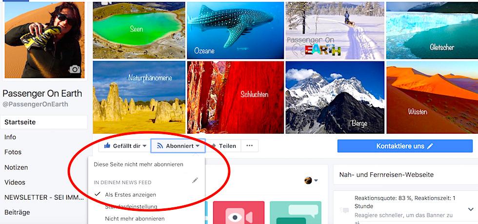 FaceBook Einstellung für Adventskalender-Gewinnspiel - Passenger On Earth
