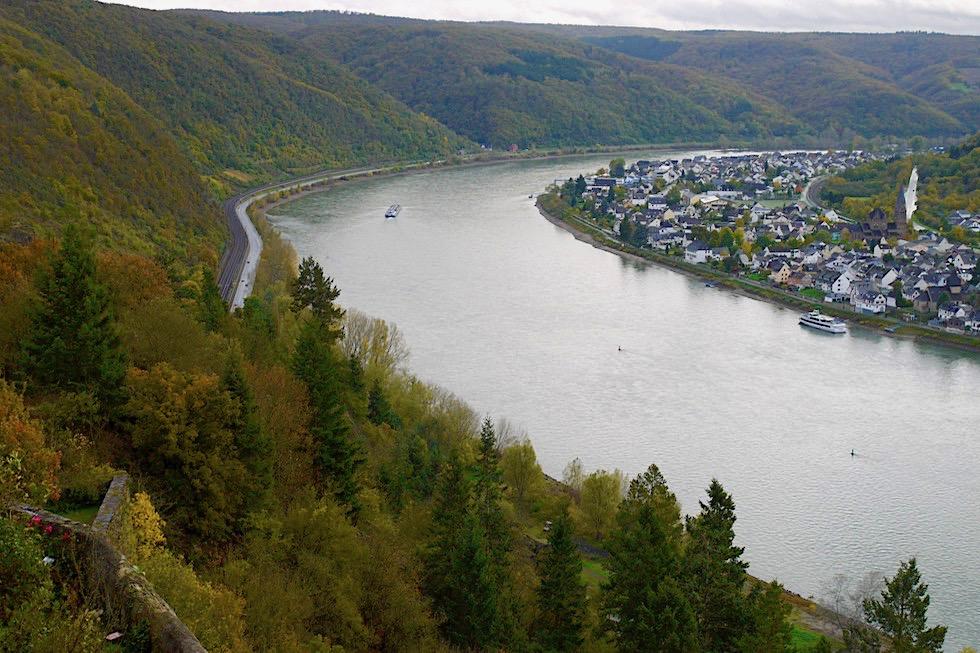 Festung Marksburg - grandioser Ausblick auf den Rhein - Braubach & Umgebung Koblenz - Rheinland-Pfalz Reisetipps