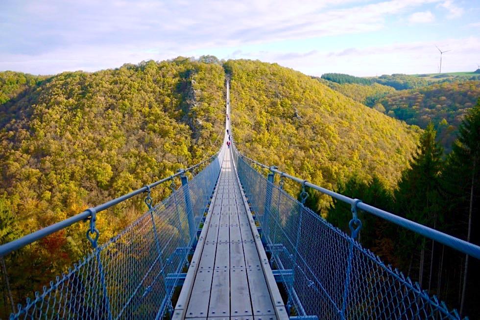 Geierlay Hängeseilbrücke - eine der längsten Hängebrücken Europas - Rheinland-Pfalz Reisetipps