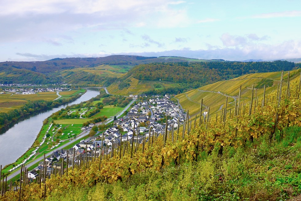 Klüsserath - Grandioser Ausblick auf Ort, Mosel & Weinberge - Rheinland-Pfalz