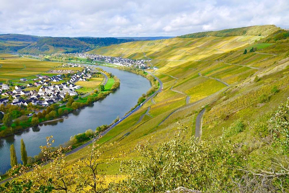 Klüsserath Sagenweg - Seitensprung Wanderung: Ausblick auf Weinberge, Steilhänge & Mosel - Rheinland-Pfalz Reisetipps