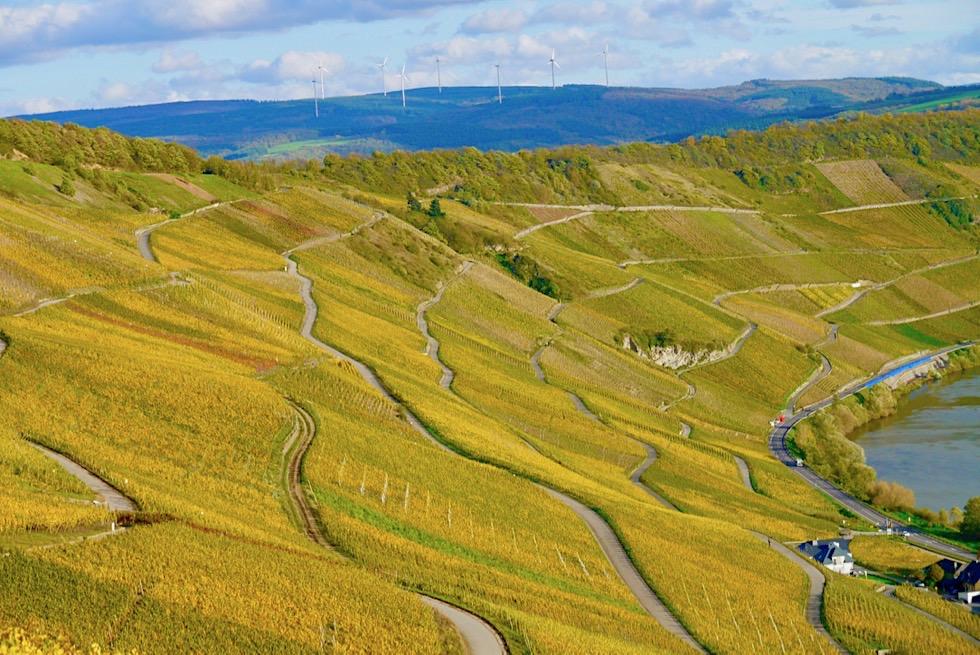 Klüsserather Sagenweg: Seitensprung Wanderung - Blick über Mosel Steilhänge - Rheinland-Pfalz Reisetipps