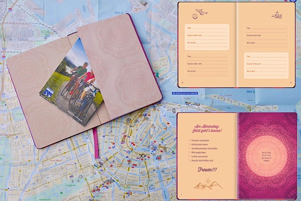 Lila Reisetagebuch vom Groh Verlag: positive Gedanke & Glücksmomente - Schönste Reisetagebücher & Erlebnis-Aufbewahrer - Passenger On Earth