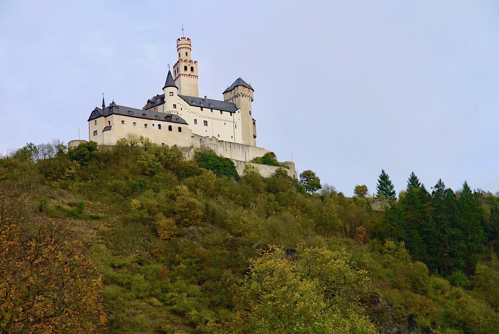 Imposante Marksburg: einzige nie zerstörte Höhenburg am Mittelrhein - Braubach & Umgebung Koblenz - Rheinland-Pfalz Reisetipps