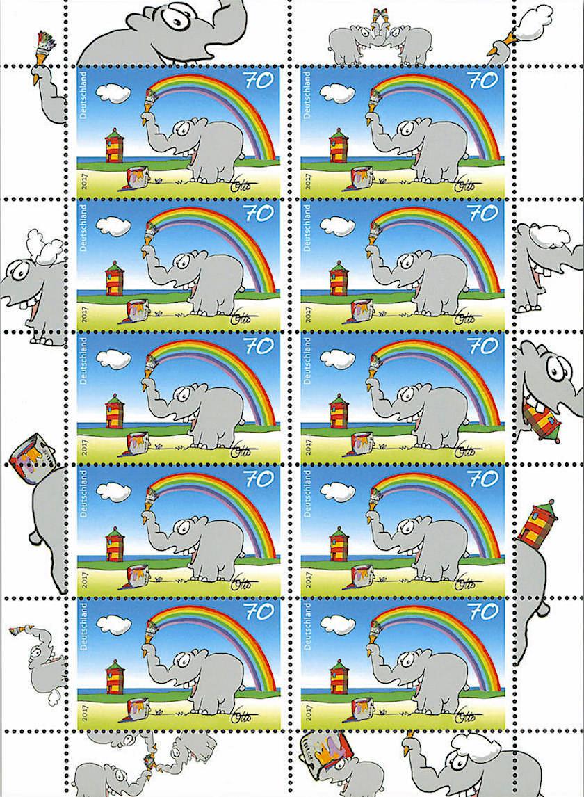 Ottifant & Otto Leuchtturm Briefmarke - Der Pilsumer Leuchtturm, das Wahrzeichen Krummhörn, hat es nun auch zu einer Briefmarke geschafft - Ostfriesland