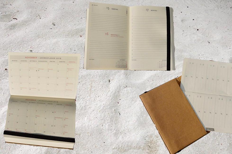 Paperblanks Jahreskalender: von Innen - Schönste Reisetagebücher & Erlebnis-Aufbewahrer - Passenger On Earth
