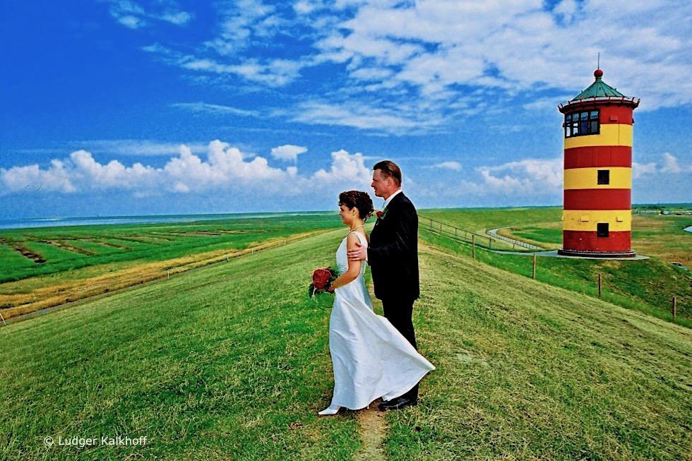 Heiraten im Pilsumer Leuchtturm - Wahrzeichen Krummhörn - Ostfriesland