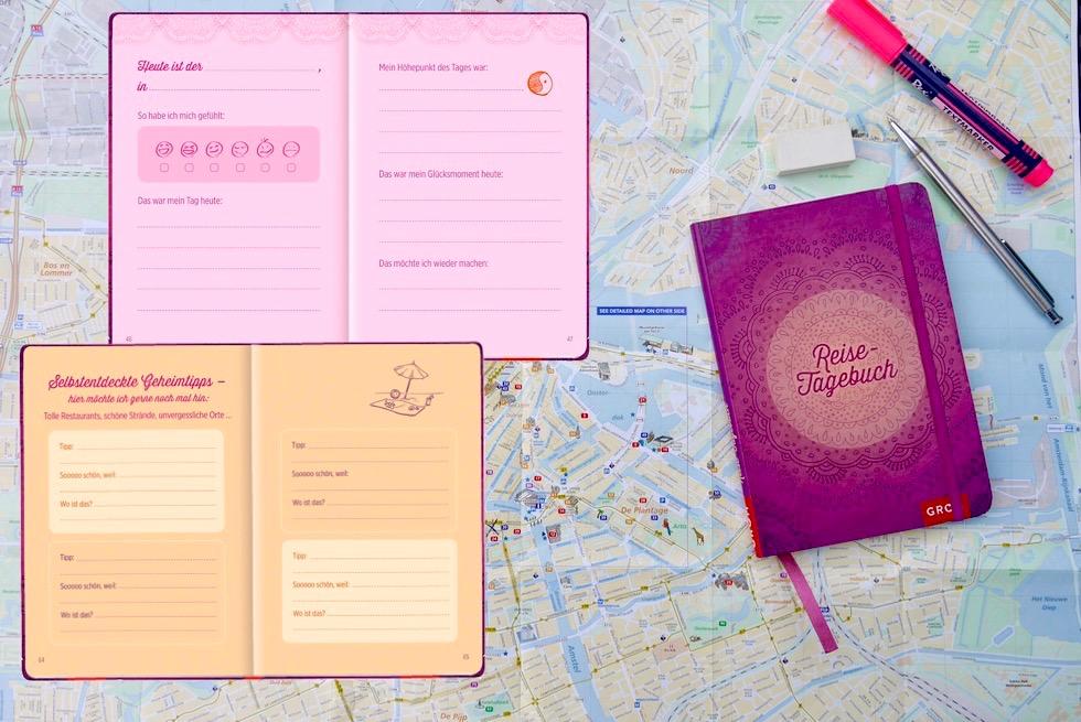 Reisetagebuch Groh Verlag - Glücksmomente, Freude, Selbstfürsorge - Schönste Reisetagebücher & Erlebnis-Aufbewahrer - Passenger On Earth
