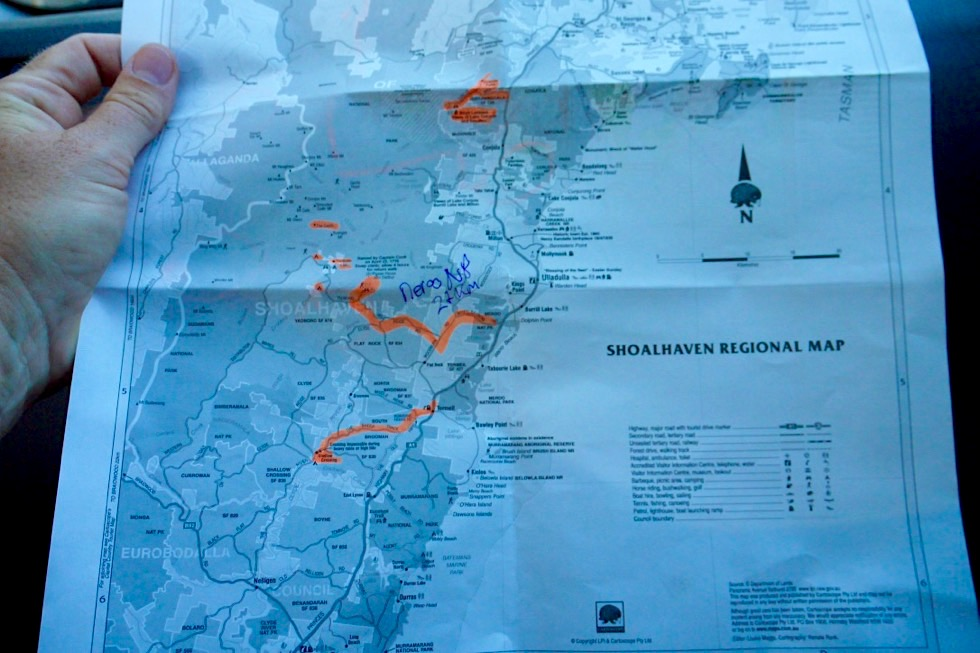 Shoalhaven Map - Pigeon House Mountain & Clyde River Crossing - New South Wales