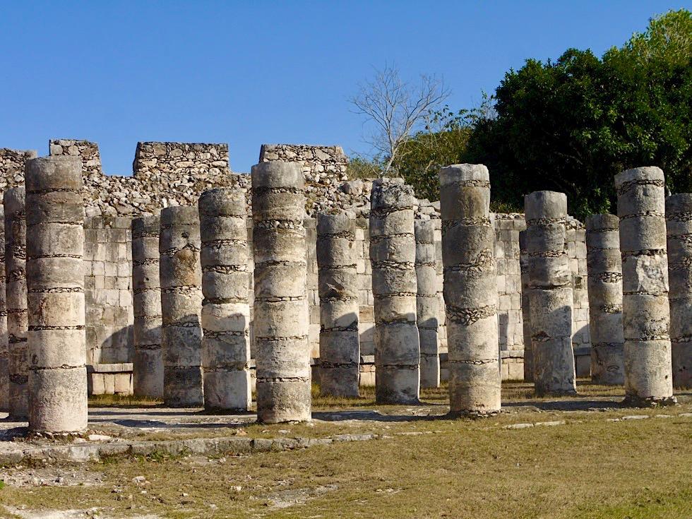 Chichen Itza - Gruppe der 1000 Säulen - Yucatan - Mexiko