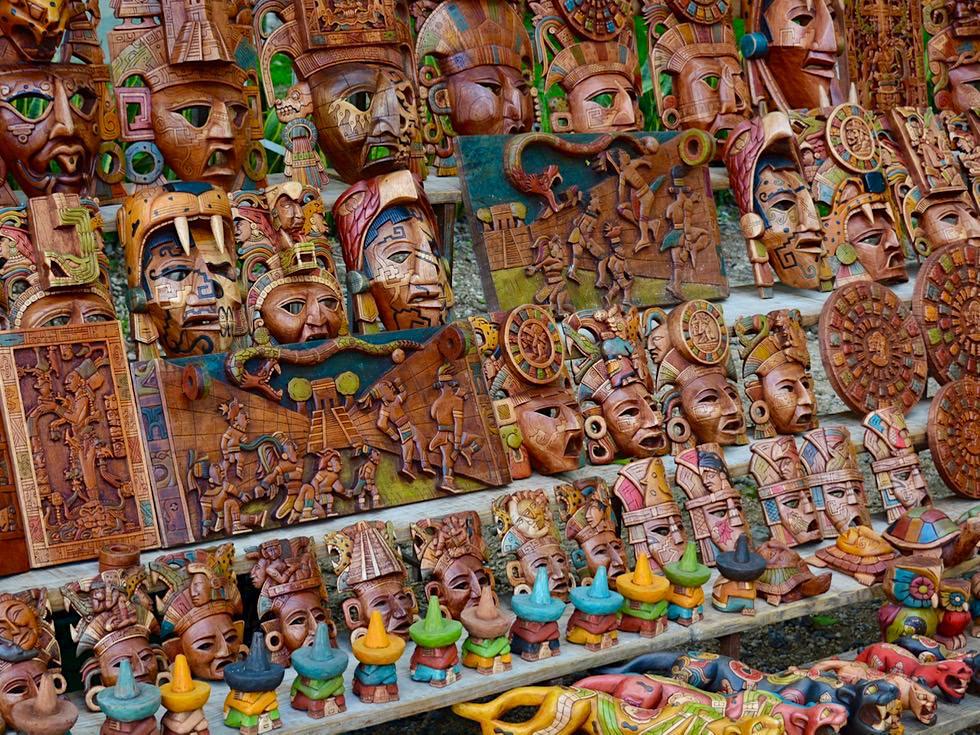 Chichen Itza - Verkaufsstände & Kunsthandwerk auf dem Gelände - Yukatan - Mexiko