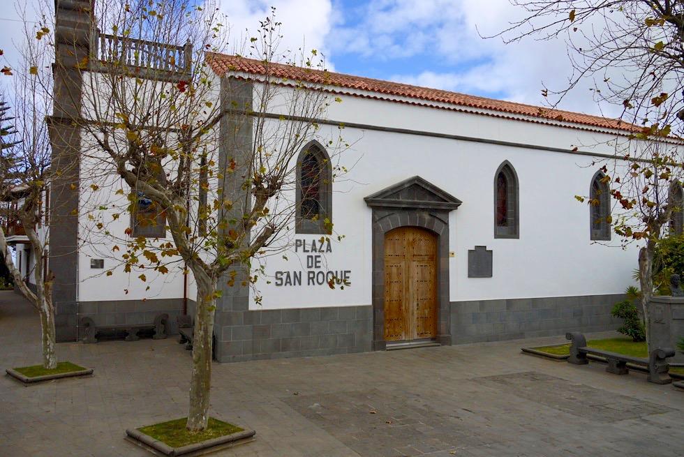Firgas - Plaza de San Roque & Kirche Inglesa de San Roque - Gran Canaria