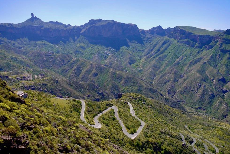 Gran Canaria - Kurvige Strassen im Inselinnern sorgen für jede Menge Fahrspaß - Kanarische Inseln