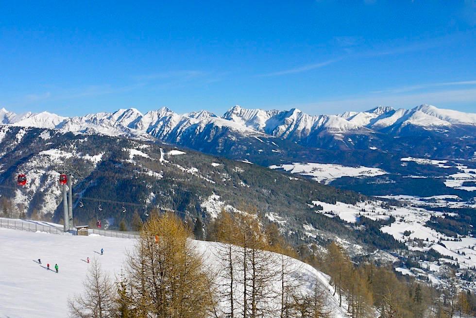 Faszinierende Ausblicke von der Grosseck-Speiereck Skischaukel im Salzburger Lungau - fast noch ein Geheimtipp - Österreich