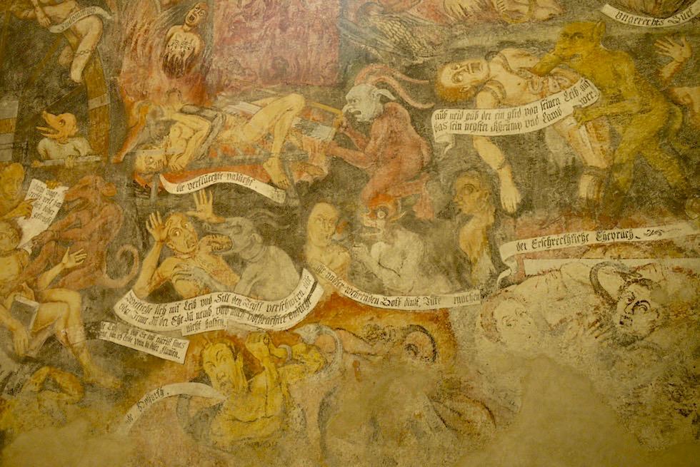 Kirche St. Michael - Fresko der 7 Todsünden mit schrecklichen Szenen - Salzburger Lungau - Österreich