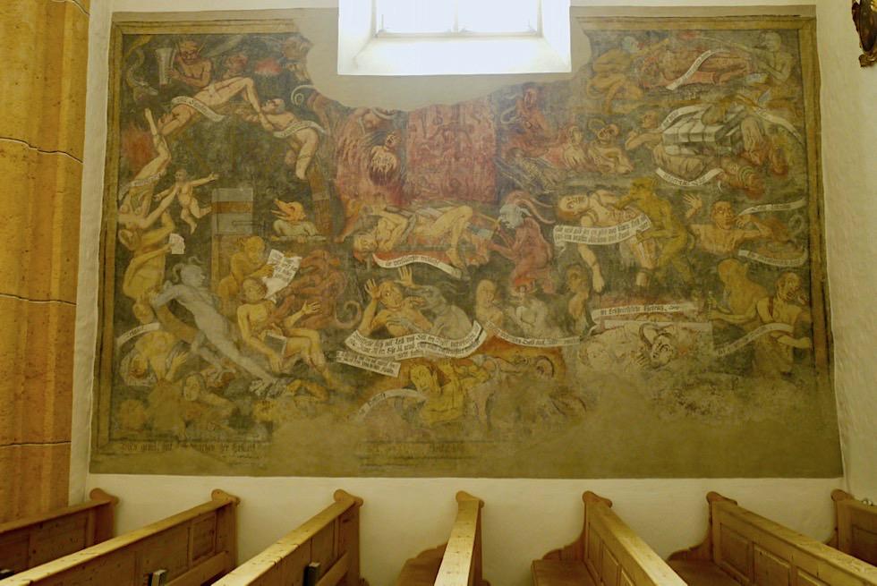 Kirche St. Michael im Salzburger Lungau - Fresko mit den 7 Todsünden - Österreich