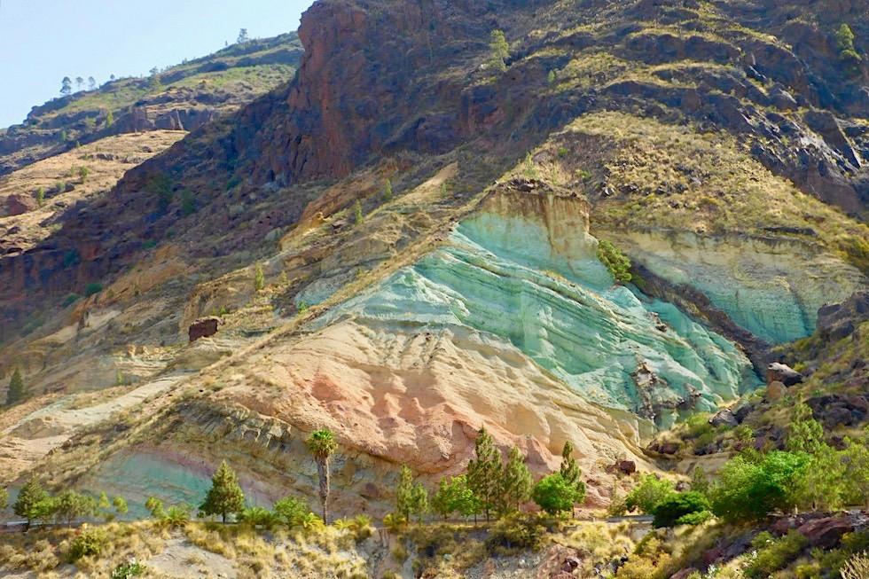 Los Azuelos - Leuchtend bunte Felsen im Südwesten - Gran Canaria