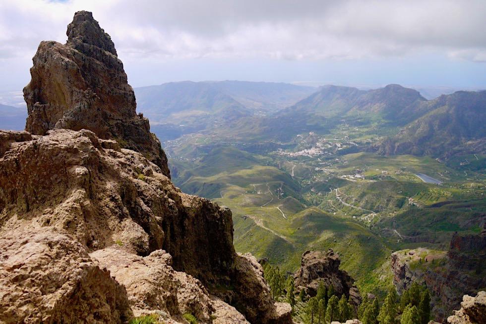Pico de las Nieves - Ausblick vom höchsten Berg auf Gran Canaria
