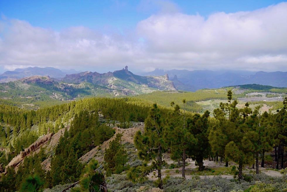 Pico de las Nieves - Ausblick vom höchsten Berg auf den Roque Nublo - Gran Canaria