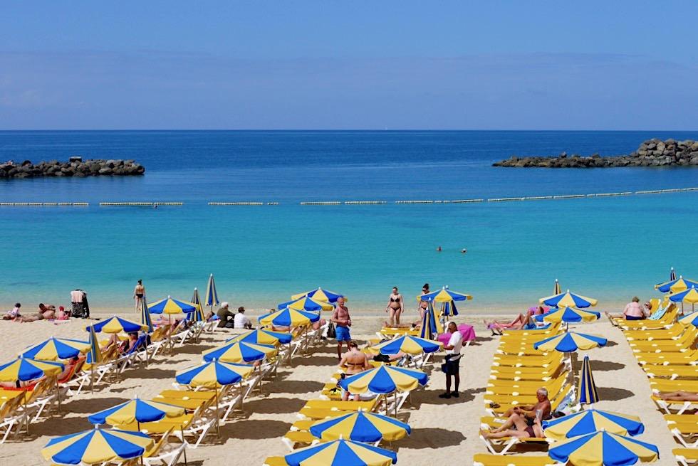 Playa de Amadores: Leuchtend türkisfarbenes Meer - Schönster Strand auf ganz Gran Canaria