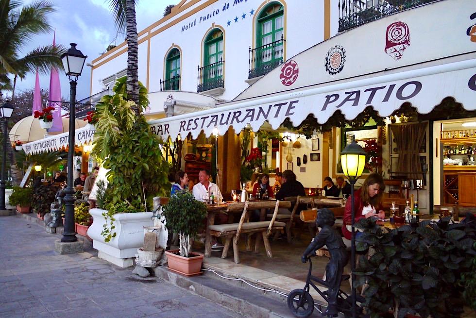 Puerto Mogan - Restaurants am Yacht-Hafen: ein idealer Ort den Tag ausklingen zu lassen - Gran Canaria
