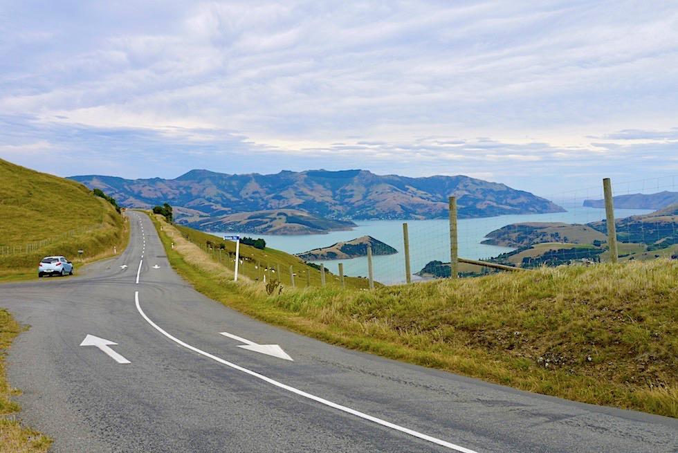 Banks Peninsula Roadtrip - Summit Road oder Scenic Drive: eine Kammstraße mit grandiosen Ausblicken - Chanterbury - Südinsel Neuseeland