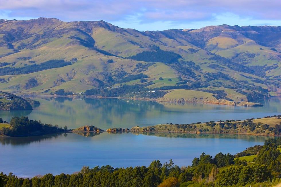 Reisebericht Banks Peninusla Road Trip - Blick auf die Onawe Peninsula - einzigartige Naturland mit vielen Geheimtipps - Canterbury - Südinsel Neuseeland