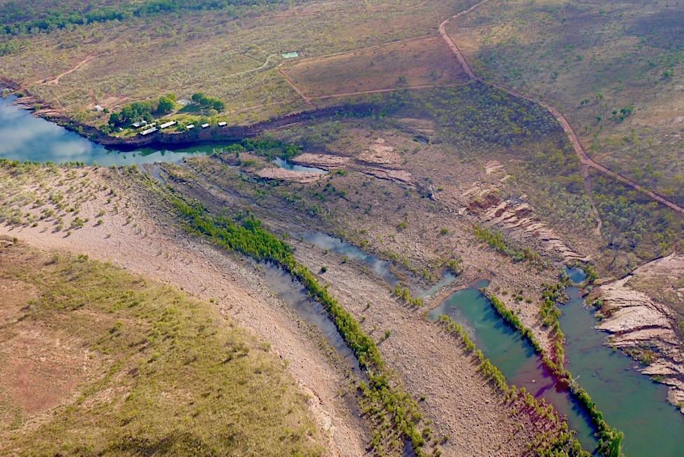 El Questro Homestead aus der Vogelperspektive - Kingfisher Scenic Flights über das Kimberley Outback - Kununurra - Western Australia