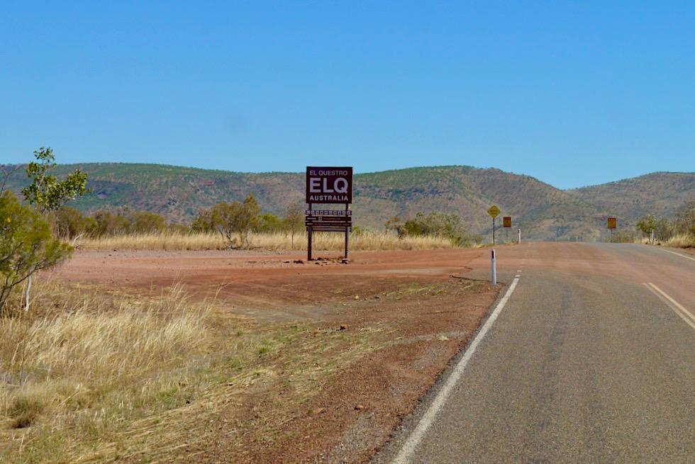 El Questro - Schild & Wegweiser - Kimberley - Western Australia