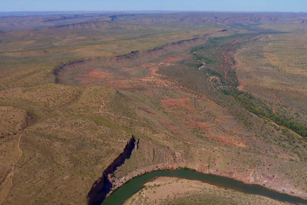 El Questro Wilderness Park & Kimberley Outback - aus der Vogelperspektive bei einem Kingfisher Scenic Flight - Western Australia