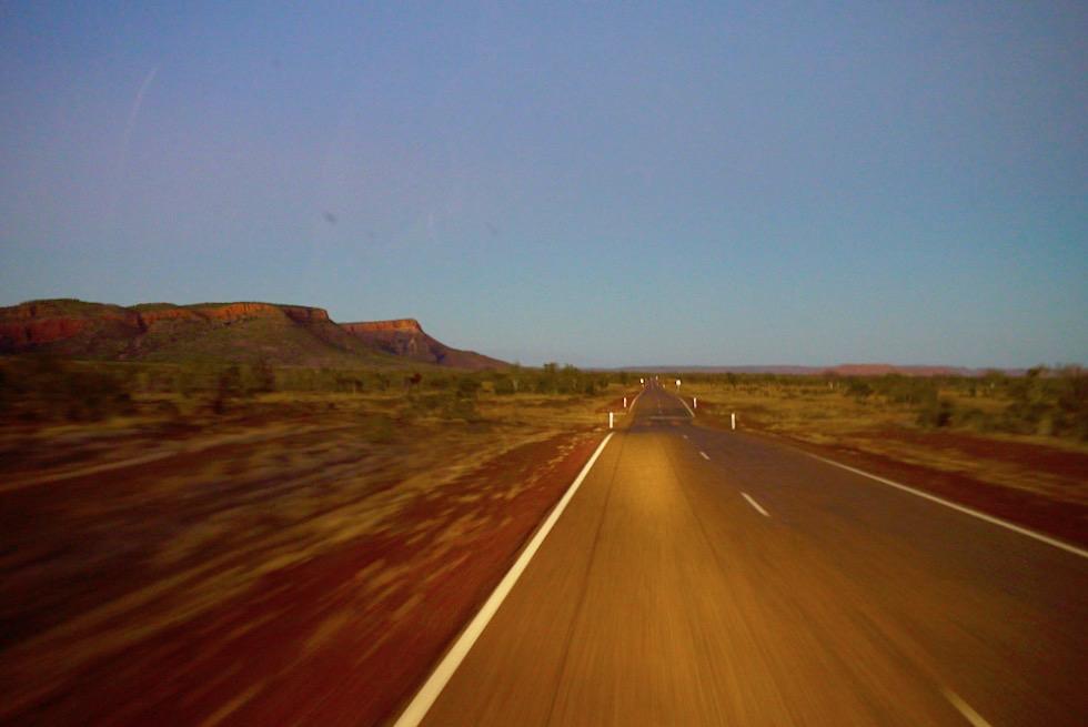 Abendstimmung auf dem letzten Stück Gibb River Road nach Kununurra - Kimberley - Western Australia