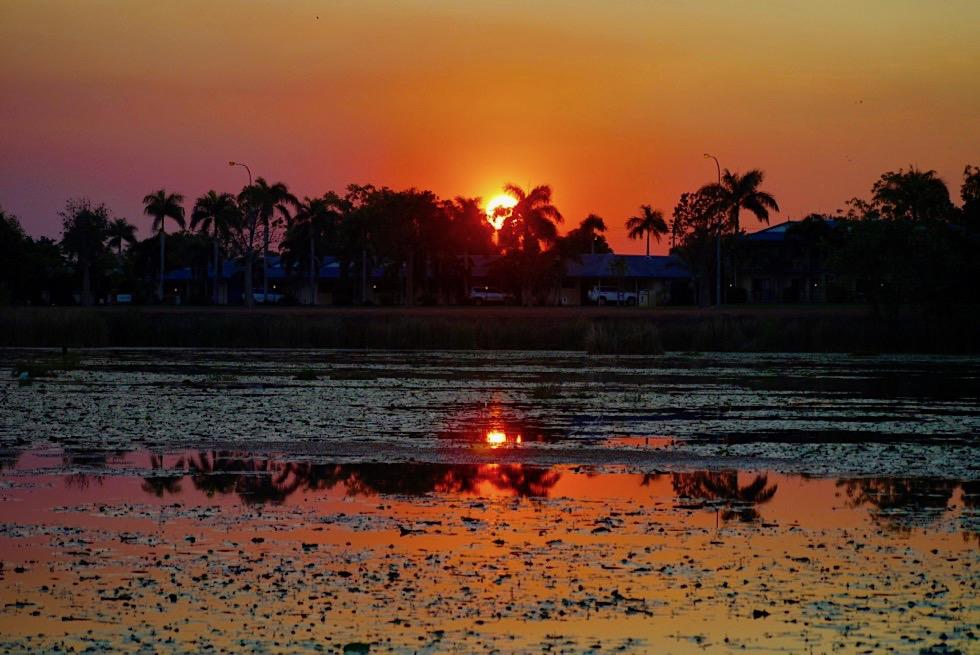 Kununurra bei einem fulminanten Sonnenuntergang - Kimberley - Western Australia