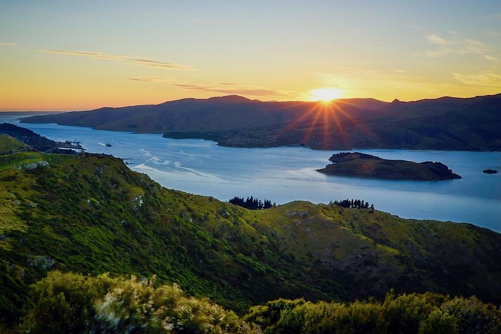Lyttelton Harbour - Sonnenaufgang - Canterbury - Südinsel Neuseeland