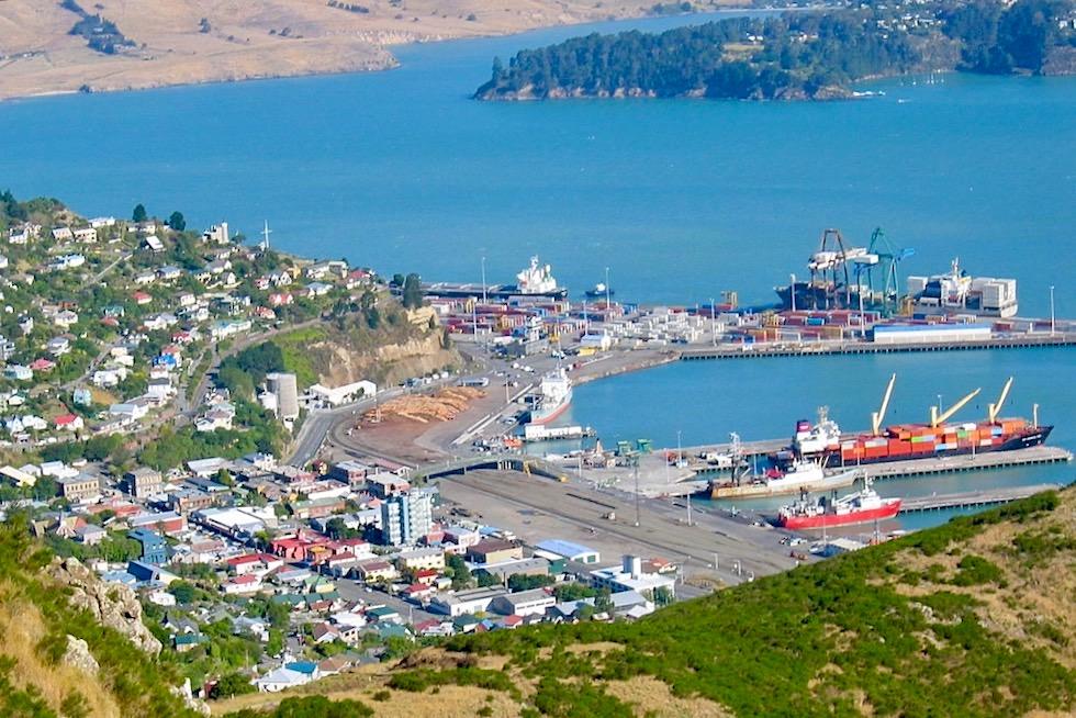 Banks Peninsula Roadtrip: Südlich von Christchurch liegt das schöne Lyttelton & der natürliche Hafen von Lyttelton - Canterbury - Südinsel Neuseeland