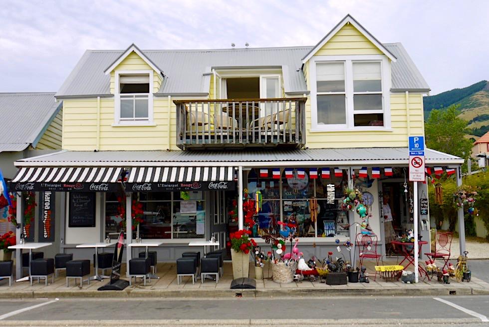 Touristisches Akaroa mit französischen Flair - Banks Peninsula - Neuseeland