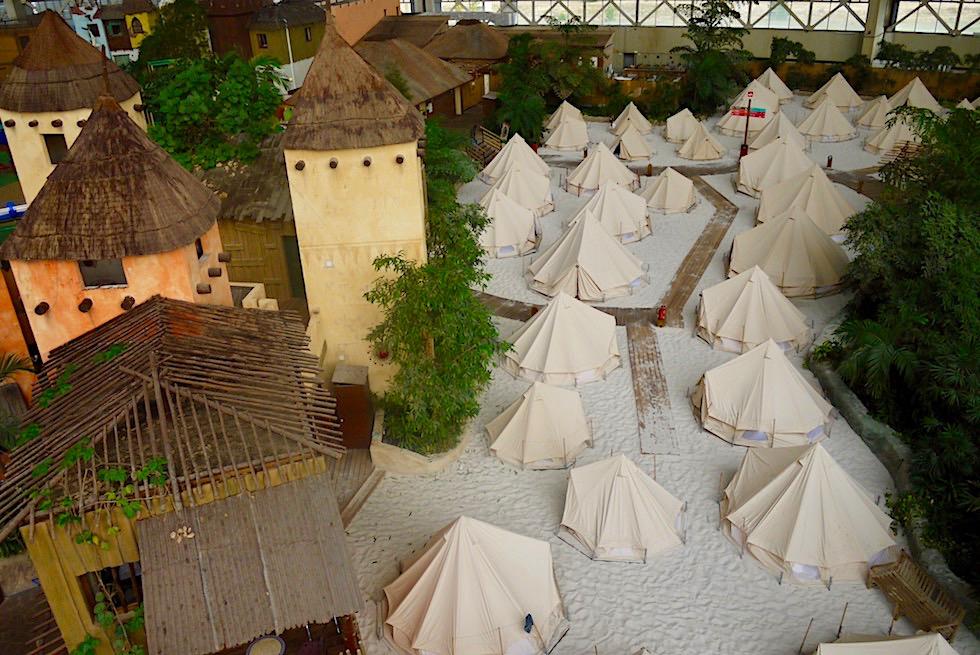 Tropical Island - Fassaden-Illusion einer Idee von Tropenwelt & Zelte - Brandenburg