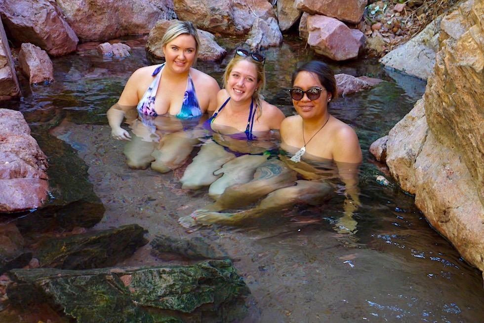 Zebedee Hot Springs - Natürliche Wasserbecken & warme Pools laden zum Relaxen ein - Kimberley - Western Australia