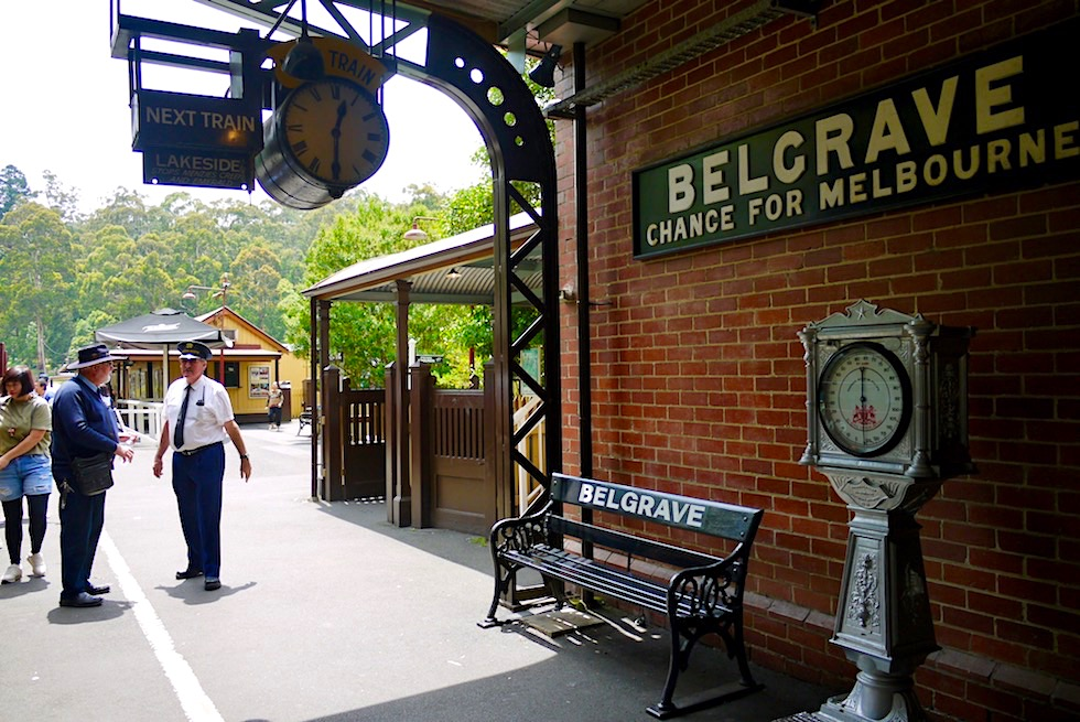 Belgrave - Historische Puffing Billy Railway Station - Highlight in den Dundenong Ranges - Melbourne, Victoria