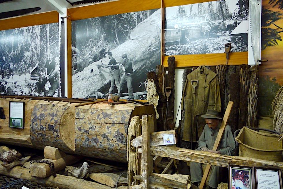Kauri Museum - Holzverarbeitung & Maschinen zur Pionierzeit - Nordinsel Neuseeland