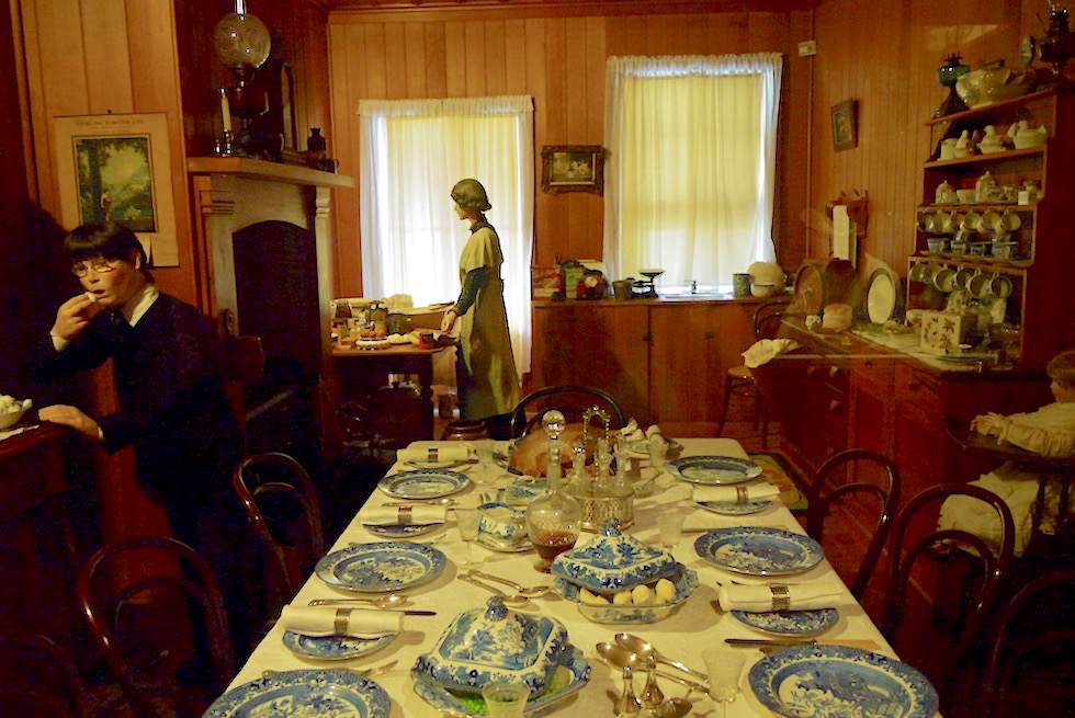 Kauri Museum - Aus dem Leben der Reichen zur Pionierzeit: ein typisches Herrenhaus - Nordinsel Neuseeland