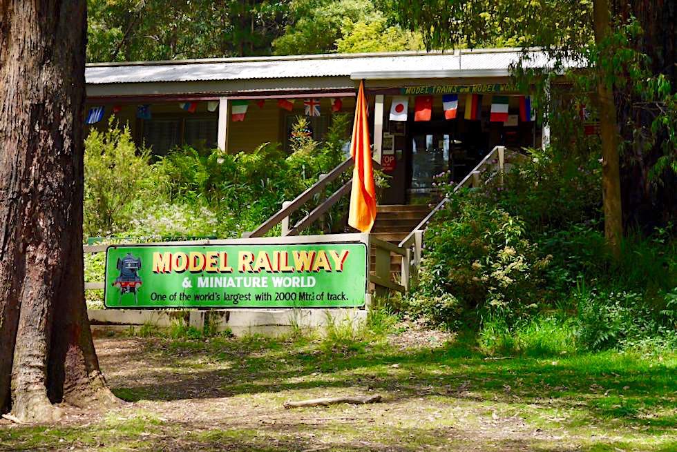Lakeside Modelleisenbahn am Puffing Billy Railway Bahnhof - Umland Melbourne - Victoria