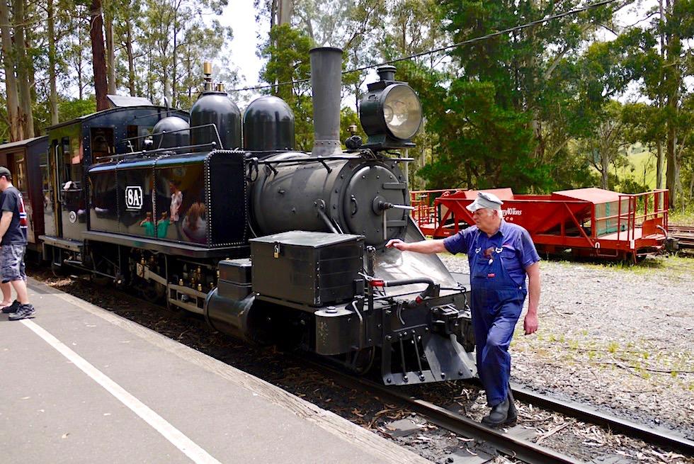 Puffing Billy - Eine Fahrt mit der historischen Dampflokomotive - Dundenong Ranges bei Melbourne - Victoria