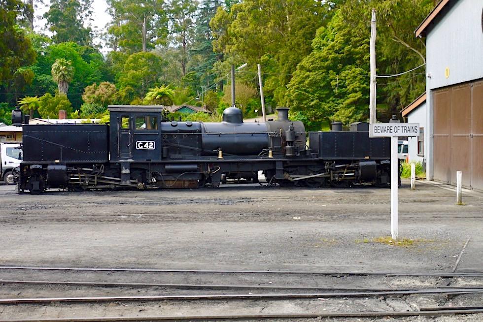 Puffing Billy Railway - Historische Garatt Dampflokomotive G42 - Belgrave bei Melbourne - Victoria