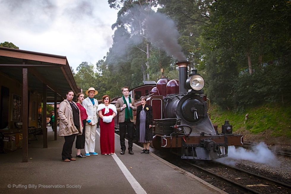 Puffing Billy - Murder & Mystery: die Schauspieler - Event Highlight bei Melbourne - Victoria