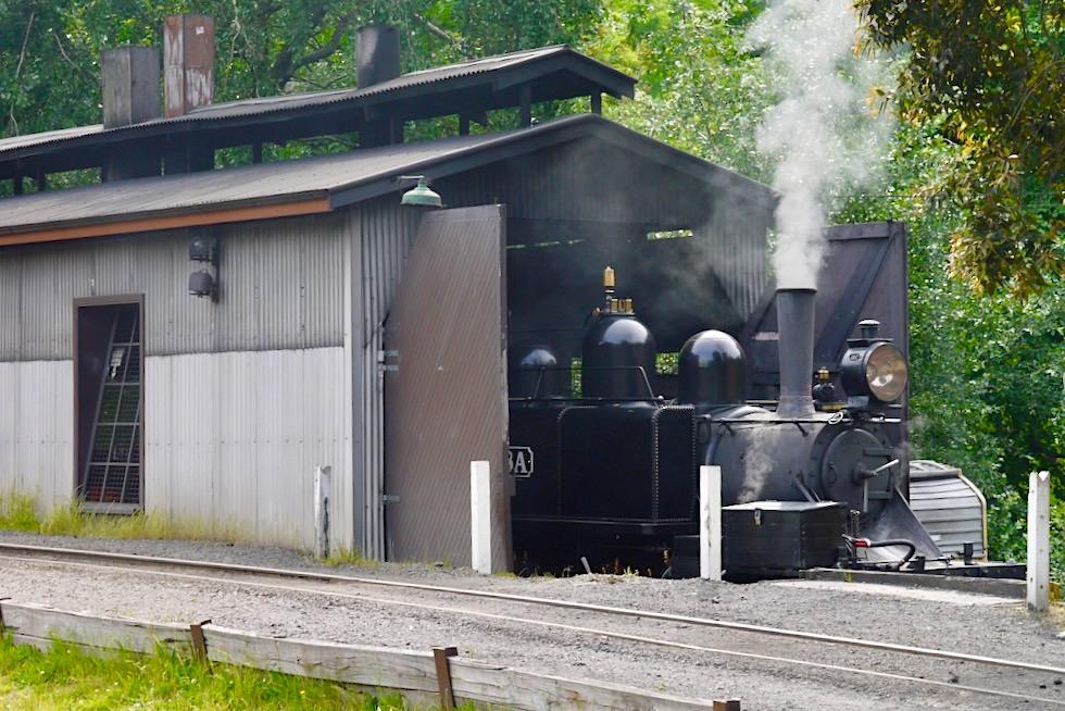 Puffing Billy Railway - Lokschuppen für historische Dampflokomotiven in Belgrave bei Melbourne - Victoria